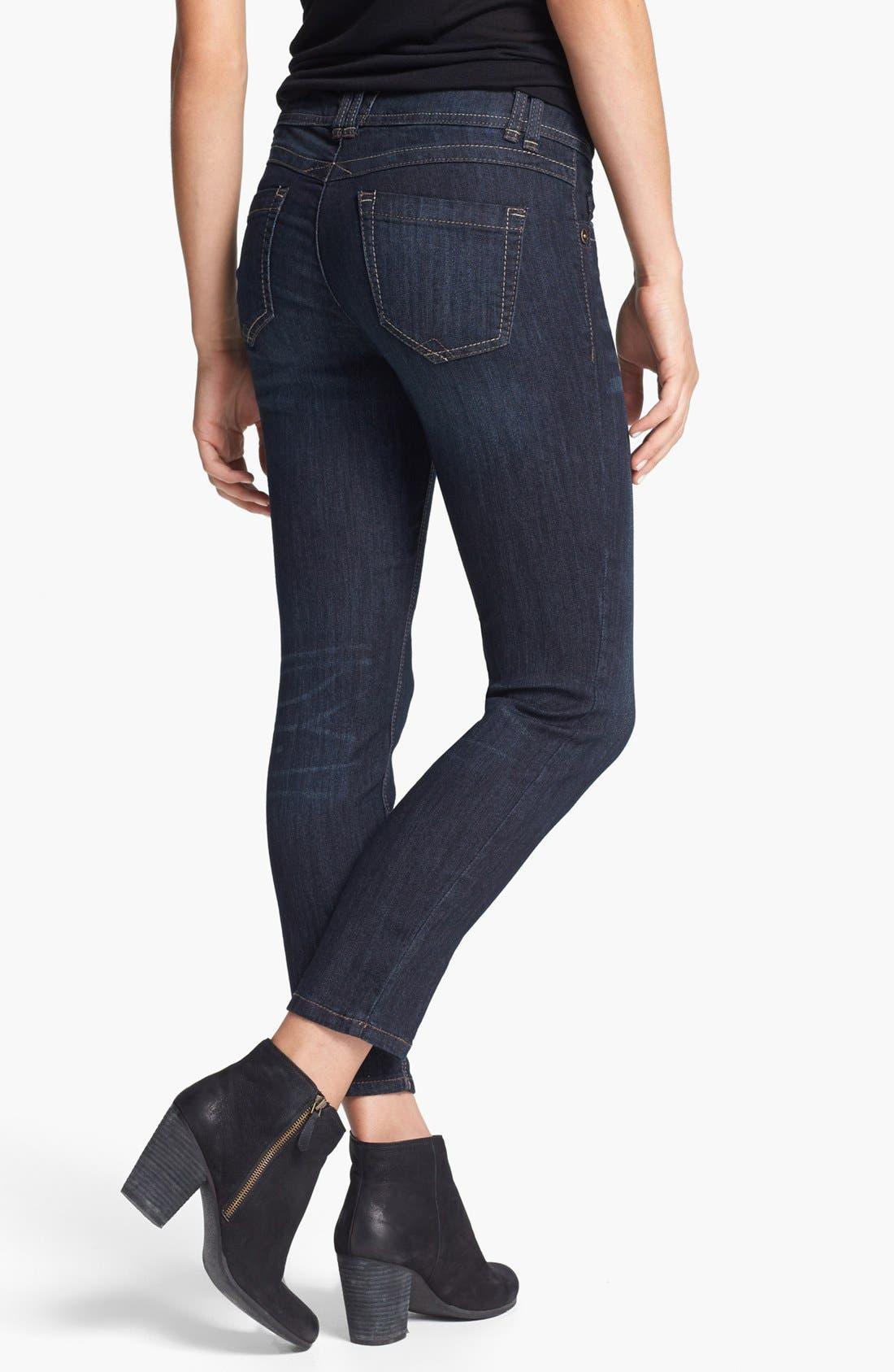 Alternate Image 2  - Wit & Wisdom Skinny Ankle Jeans (Dark Blue)