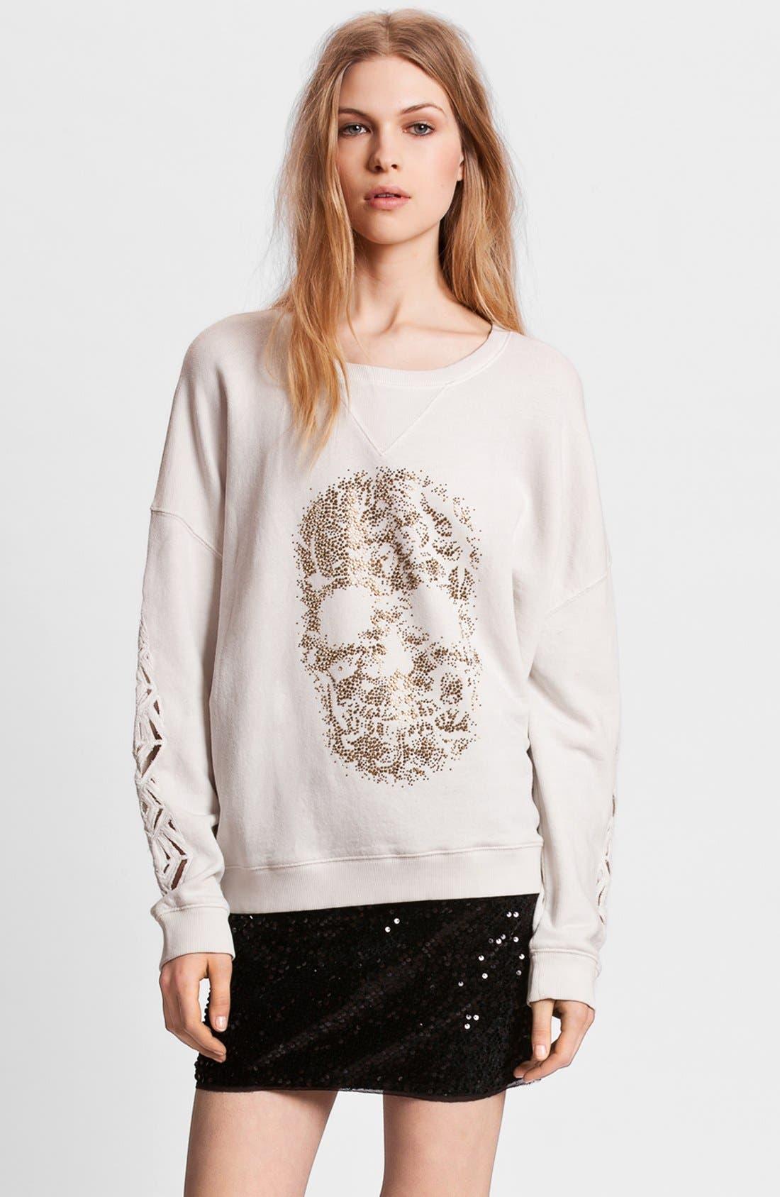 Alternate Image 1 Selected - Zadig & Voltaire 'Sunny' Skull Embellished Sweatshirt
