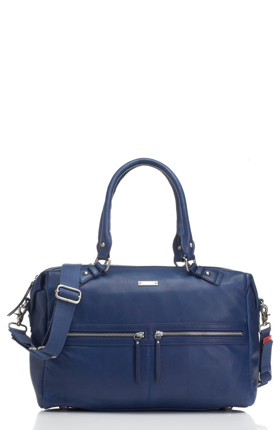 Alternate Image 1 Selected - Storksak 'Caroline' Leather Diaper Bag