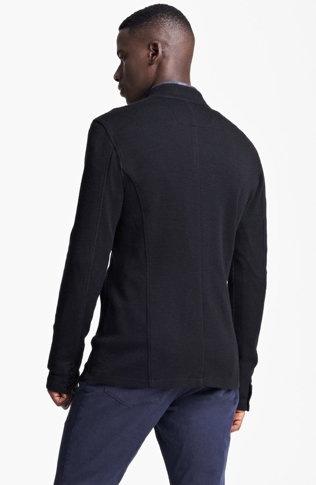 Alternate Image 2  - John Varvatos Star USA Luxe Fit Double Knit Shirt Sweater