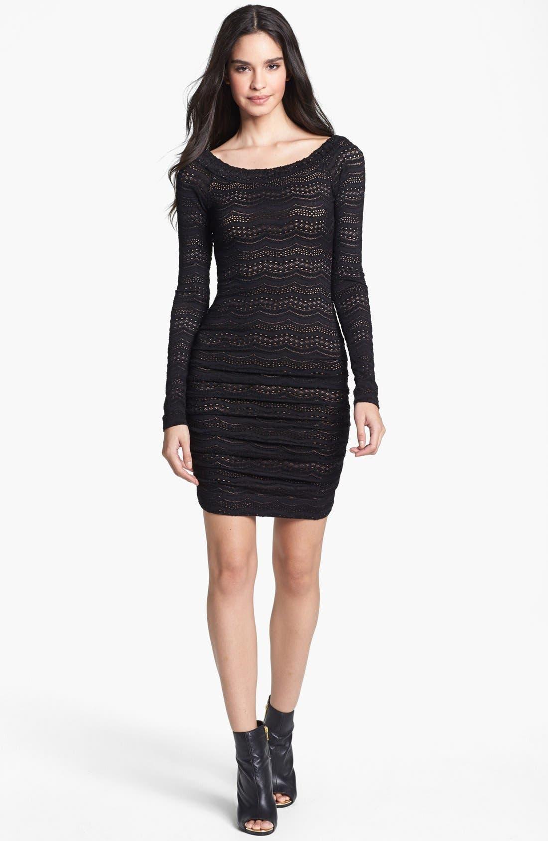 Alternate Image 1 Selected - BCBGMAXAZRIA Lace Body-Con Dress