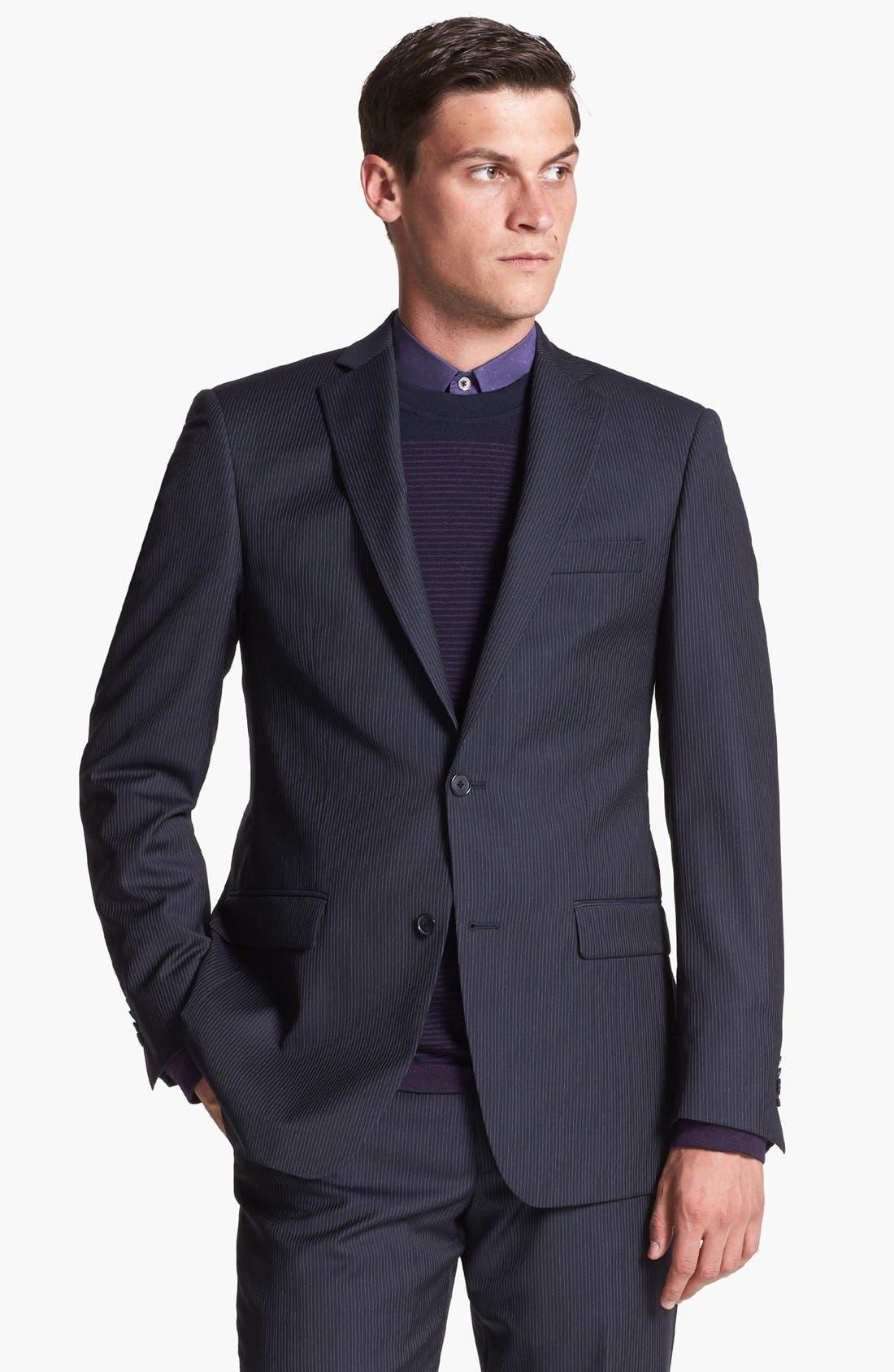 Alternate Image 3  - Michael Kors Stripe Suit & Ted Baker London Sweater