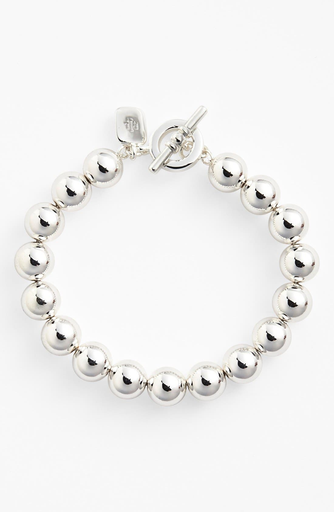 Alternate Image 1 Selected - Lauren Ralph Lauren Metal Bead Toggle Bracelet