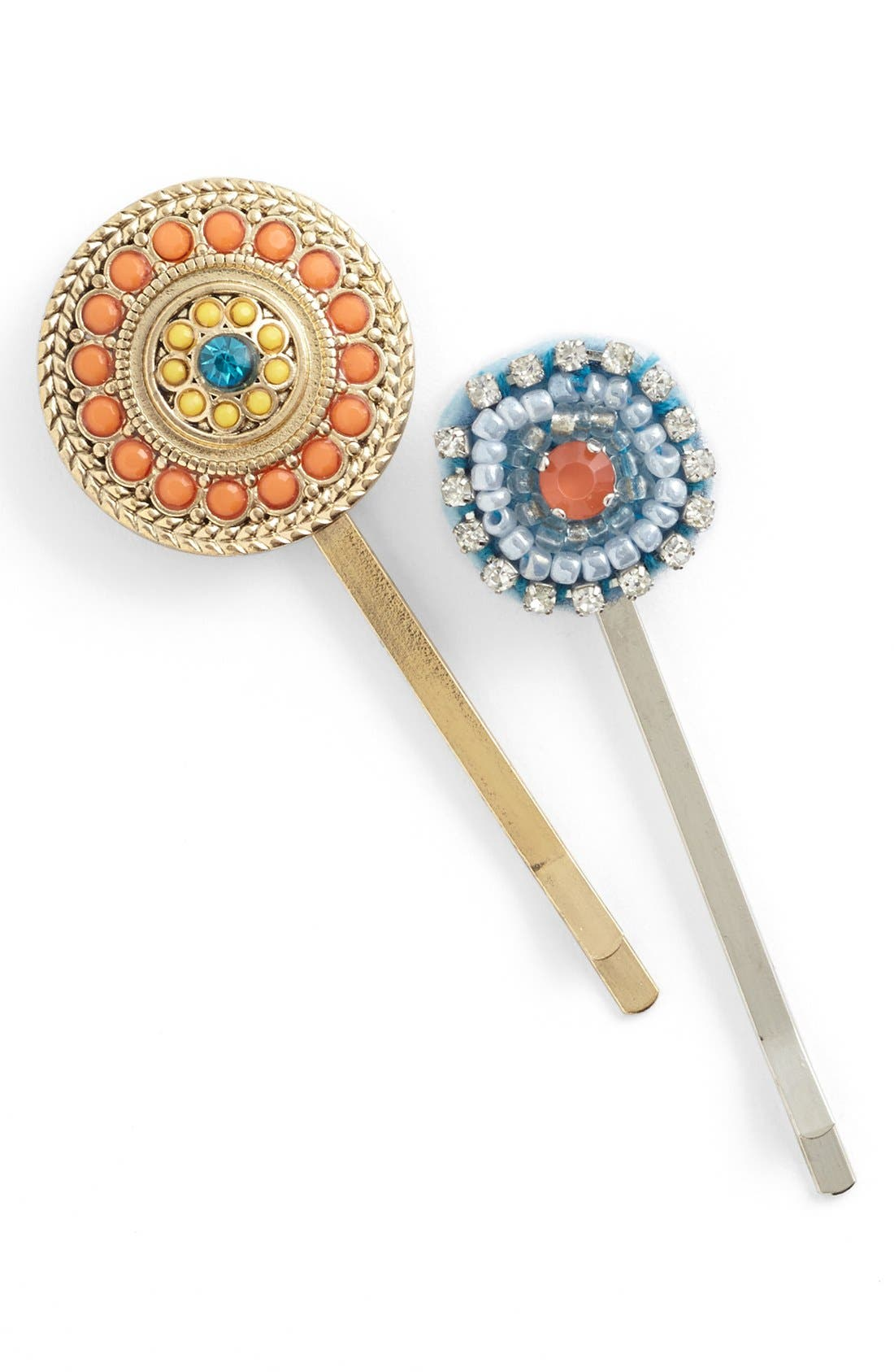 Alternate Image 1 Selected - Berry 'Esme' Bobby Pins (2-Pack)