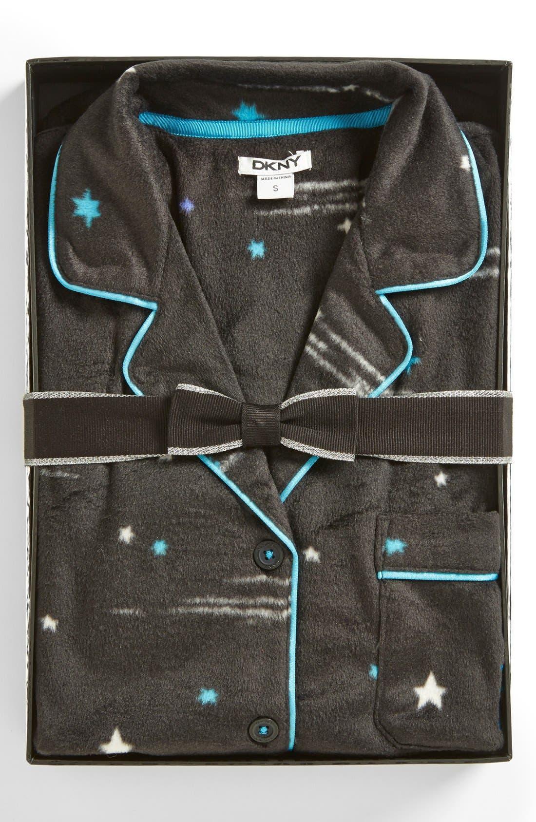 Alternate Image 4  - DKNY 'Wish List' Fleece Pajamas