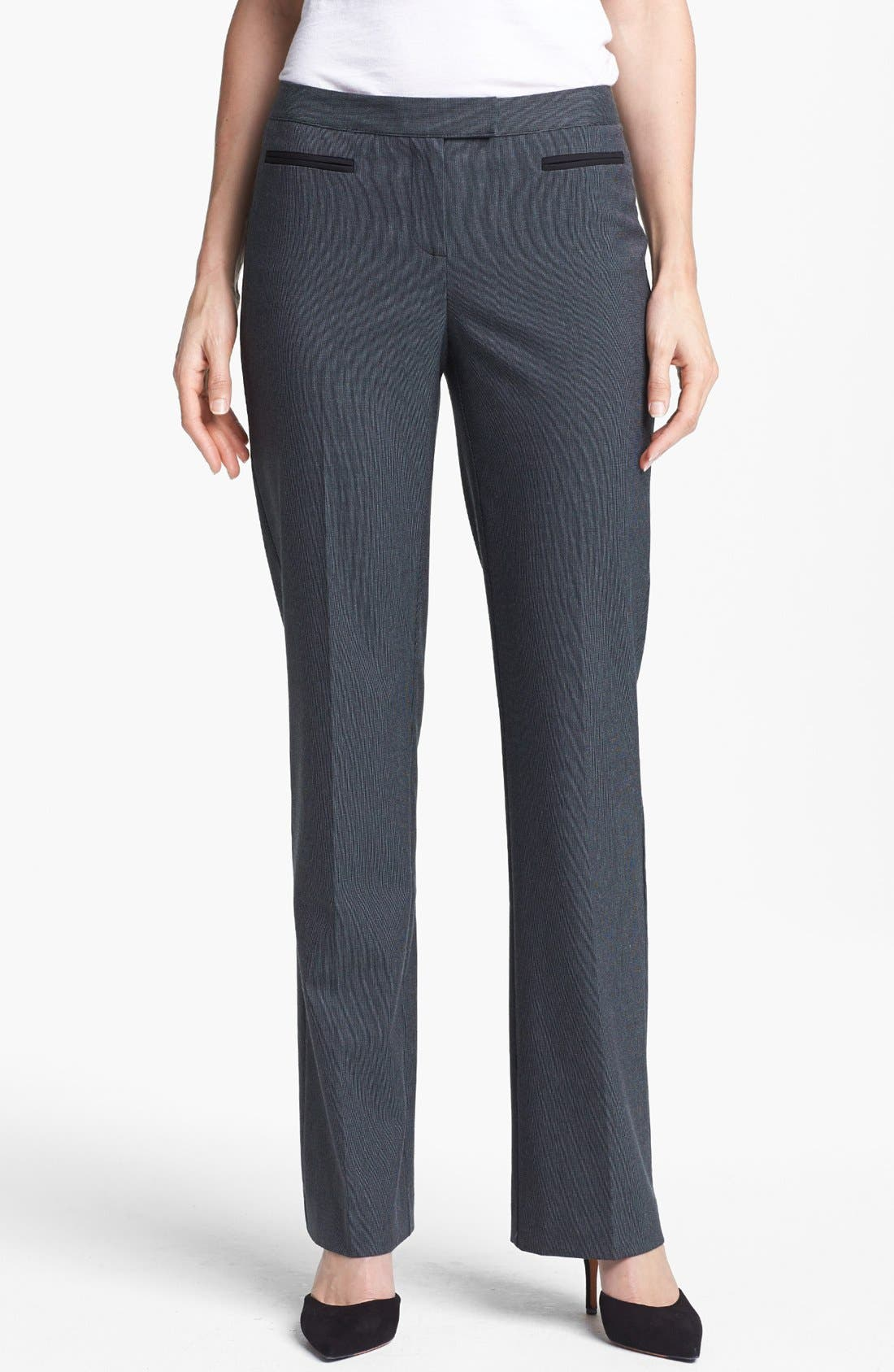 Alternate Image 1 Selected - Halogen® 'Taylor - Fox Hunt' Curvy Fit Pants (Regular & Petite)