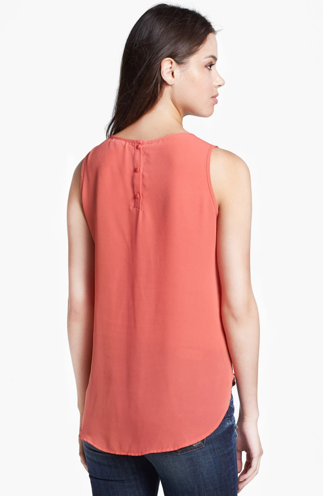 Alternate Image 2  - Pleione Pleated Woven High/Low Tank