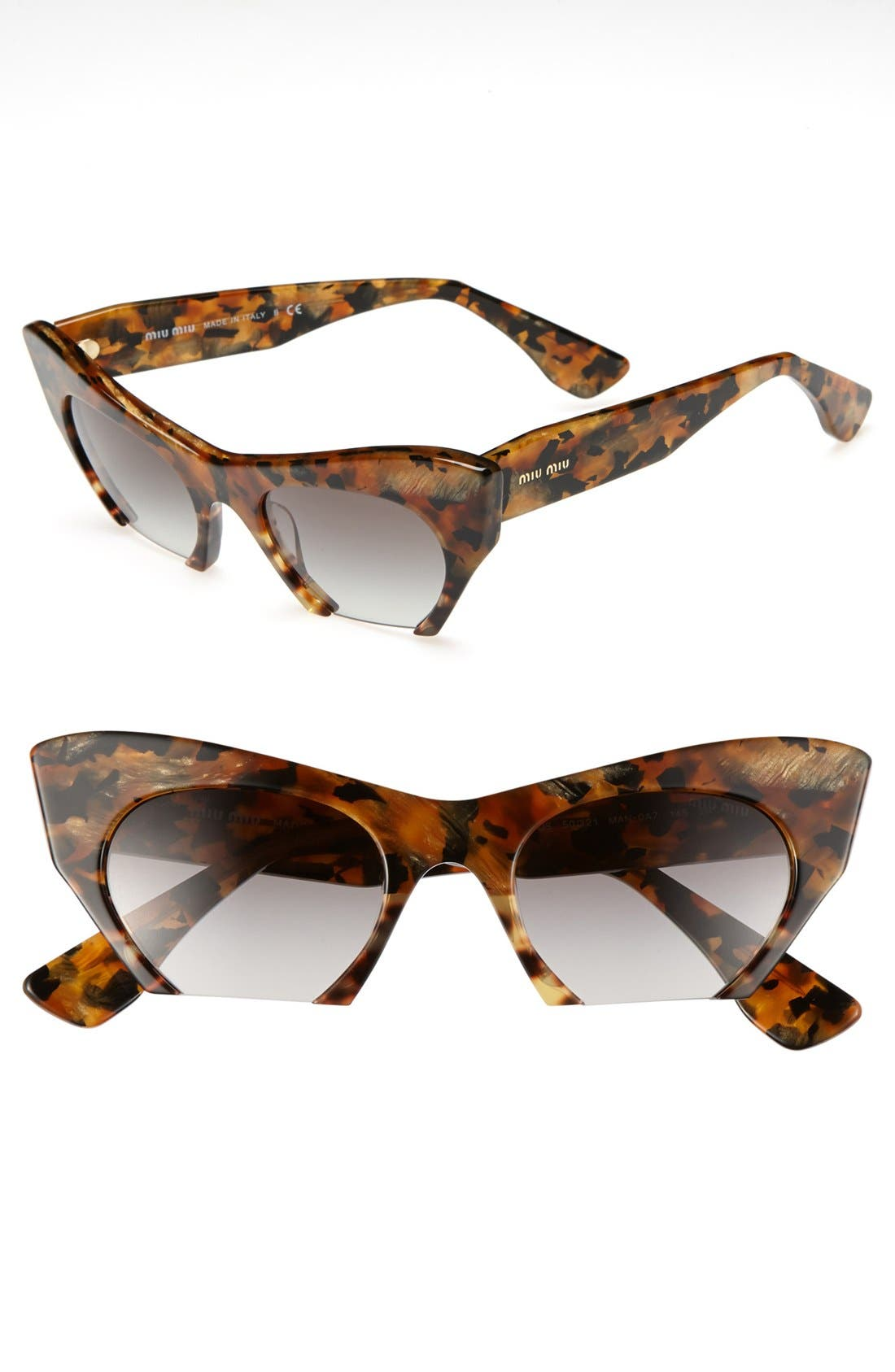Alternate Image 1 Selected - Miu Miu 50mm Cat Eye Sunglasses