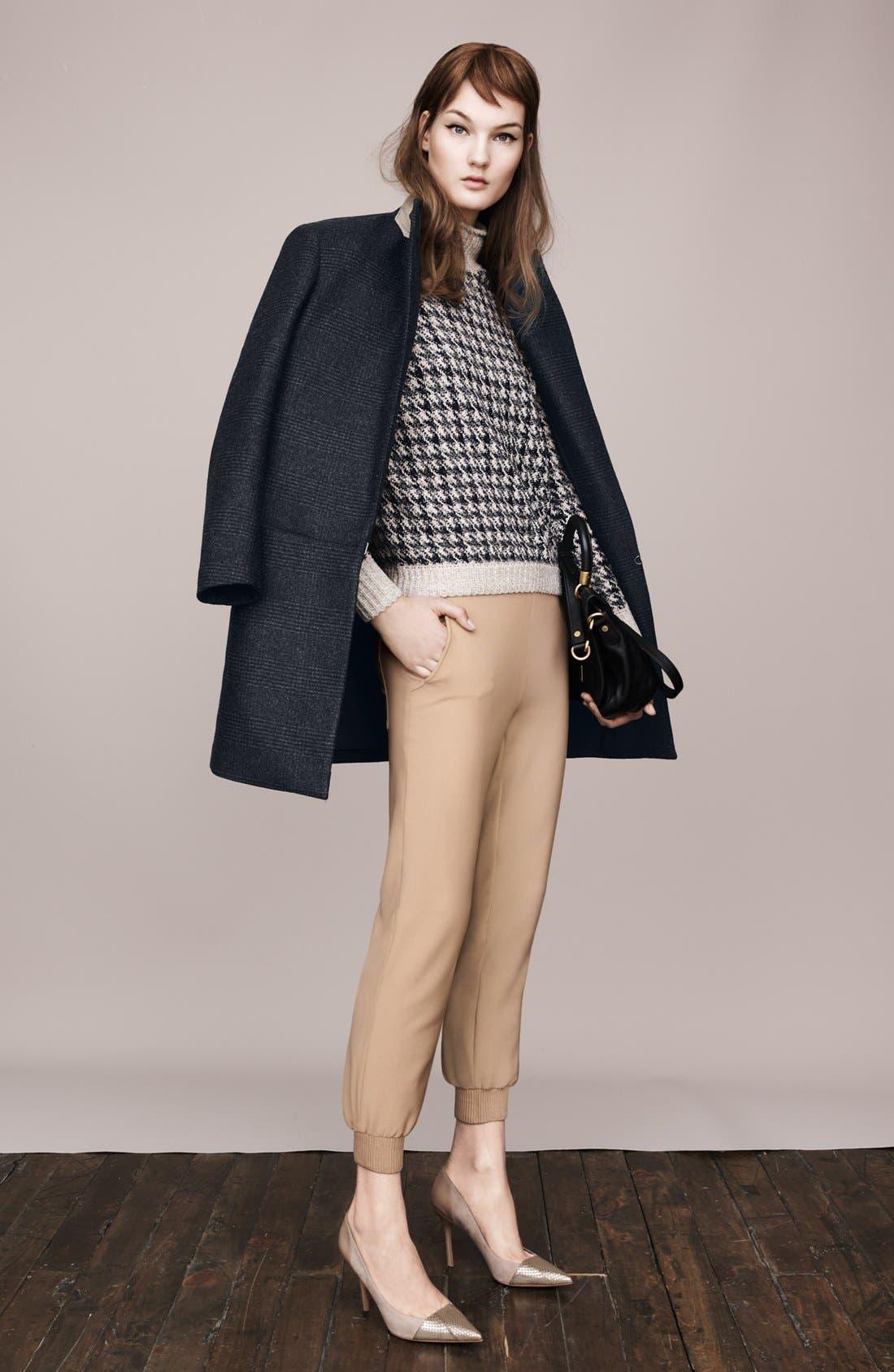 'Elibeth' Wool Blend Coat,                             Alternate thumbnail 4, color,