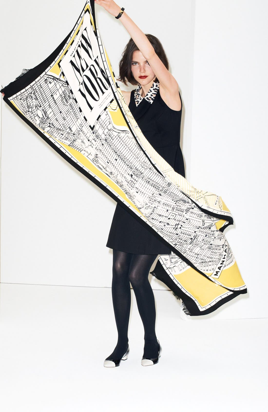 Alternate Image 5  - kate spade new york 'new york map' scarf