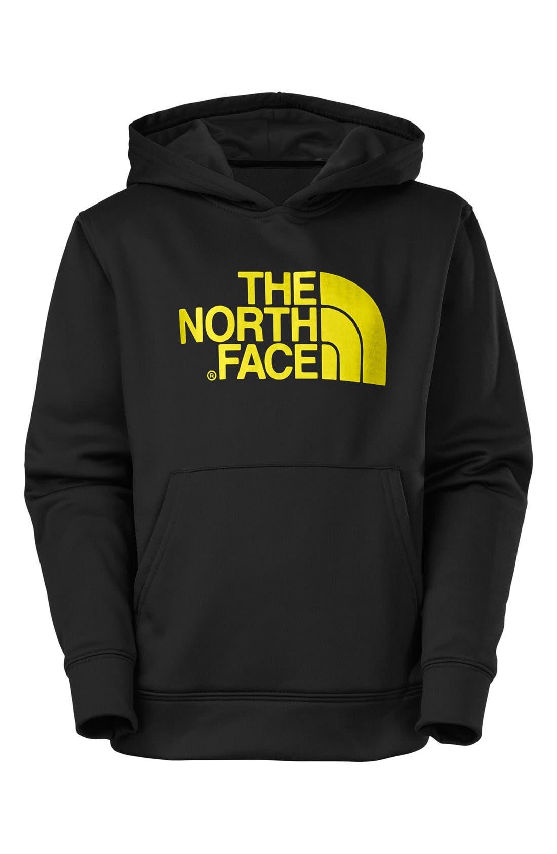 Main Image - The North Face 'Logo Surgent' Fleece Pullover Hoodie (Big Boys)