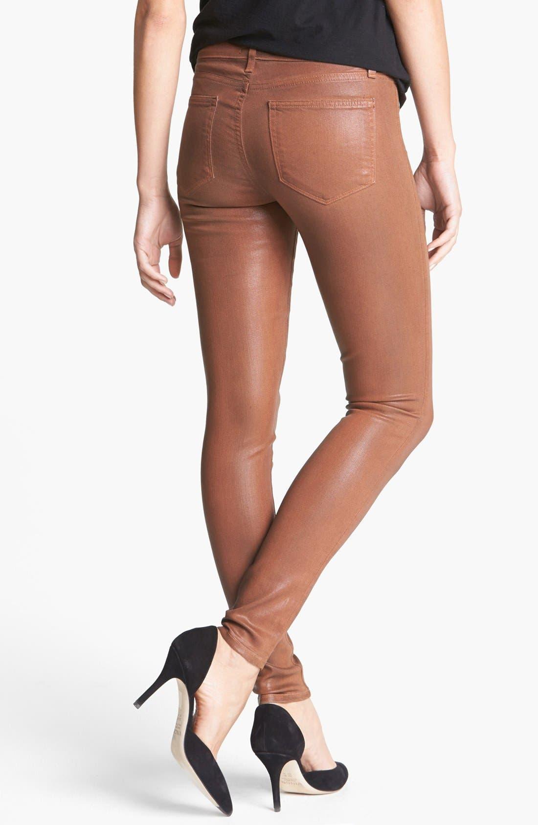 Alternate Image 2  - Paige Denim 'Verdugo' Coated Ultra Skinny Jeans (Saddle)