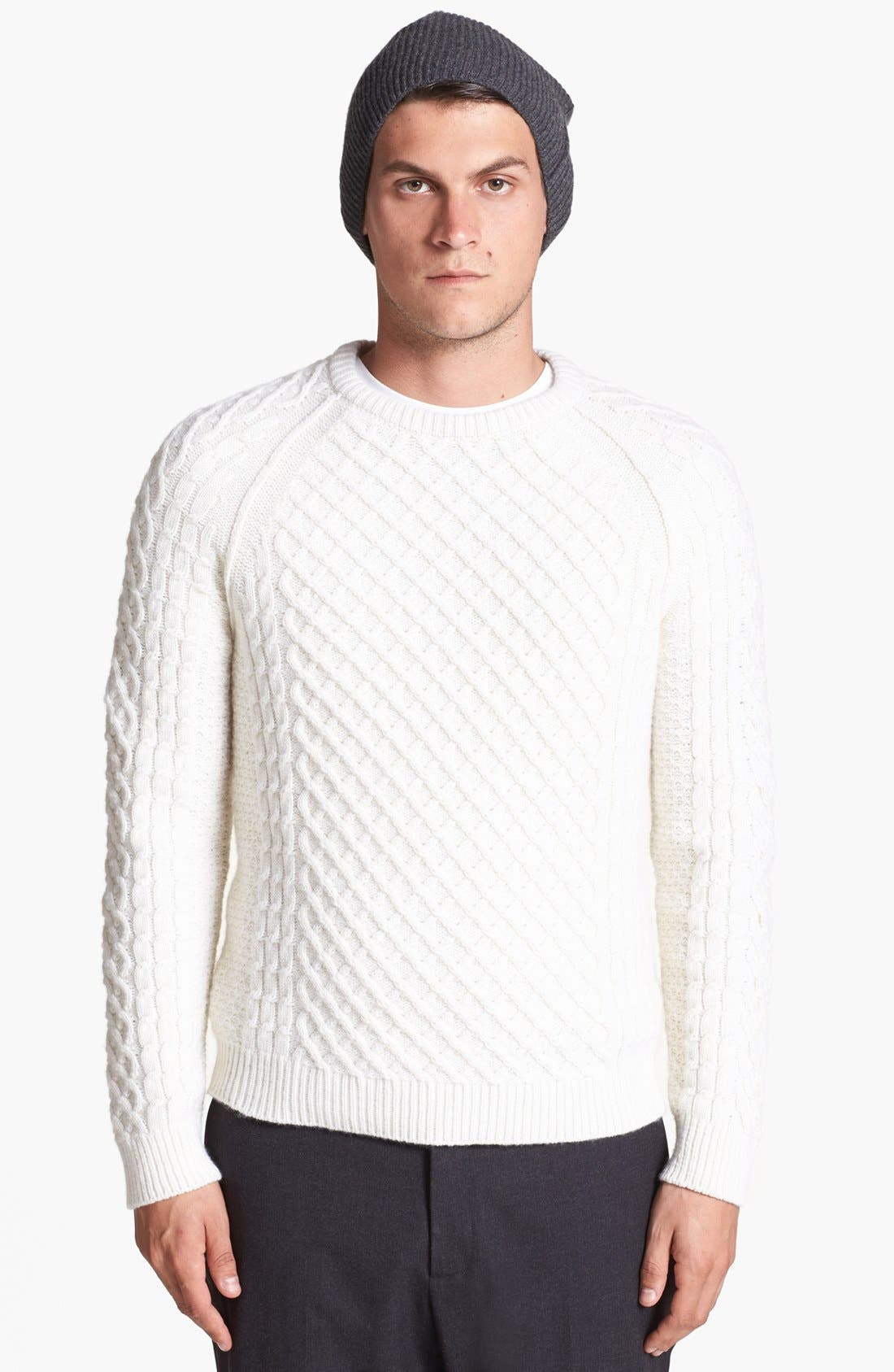 Alternate Image 1 Selected - Vince Fisherman Cashmere & Wool Sweater