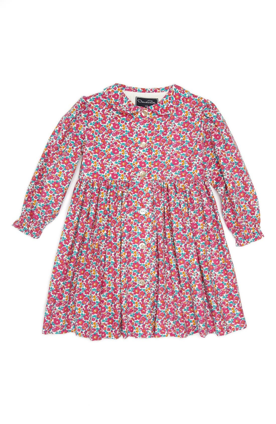 Alternate Image 1 Selected - Oscar de la Renta Print Dress (Baby Girls)
