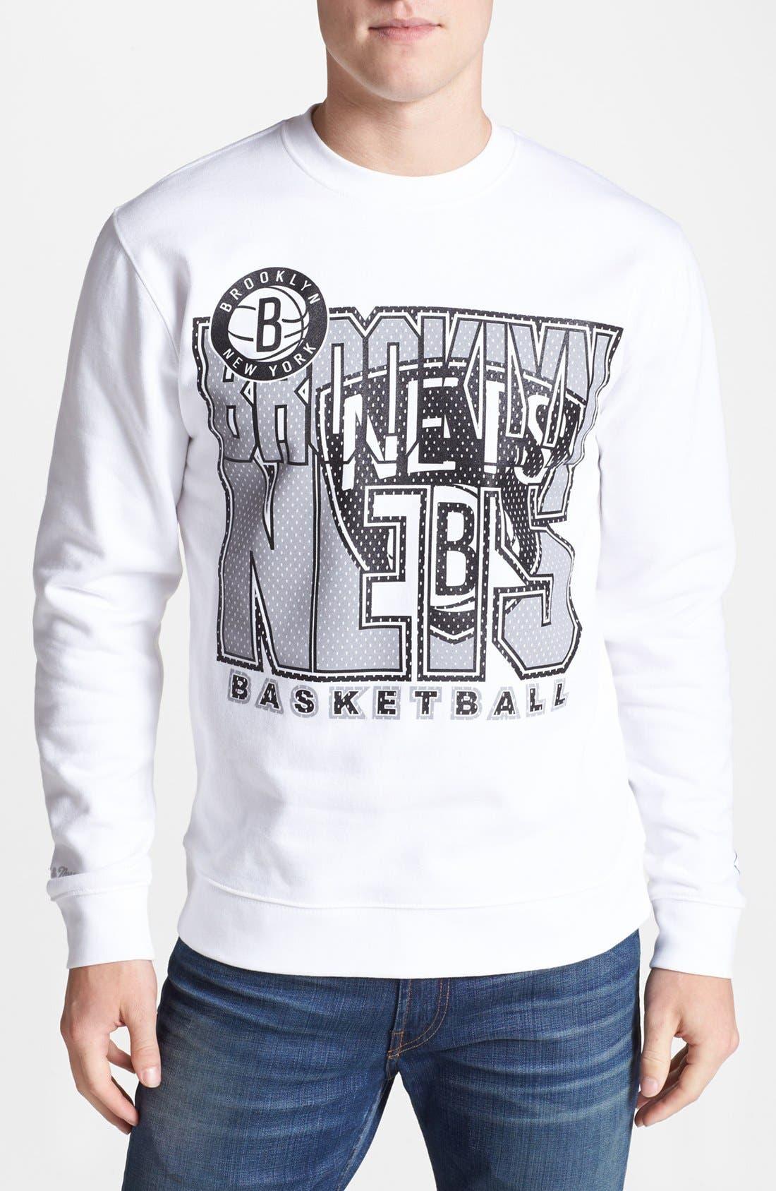Main Image - Mitchell & Ness 'Brooklyn Nets' Sweatshirt