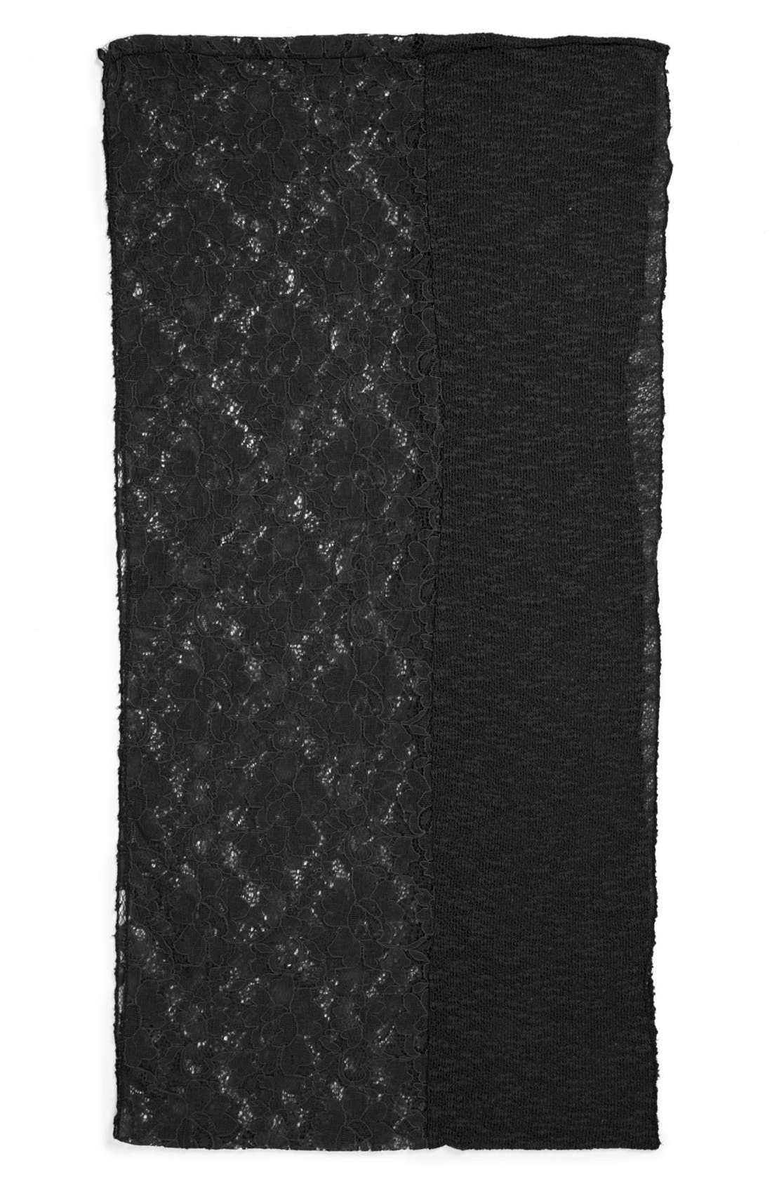 Alternate Image 2  - David & Young Lace Infinity Scarf (Juniors)