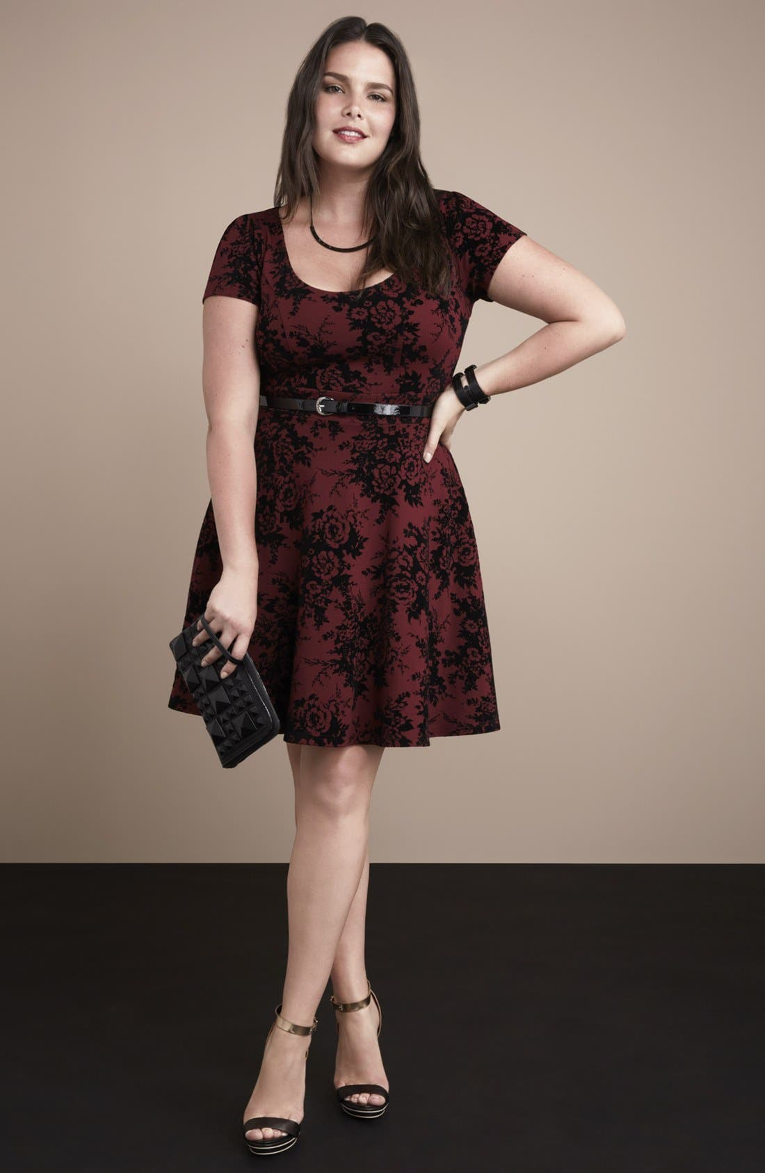 Main Image - City Chic Skater Dress & Accessories
