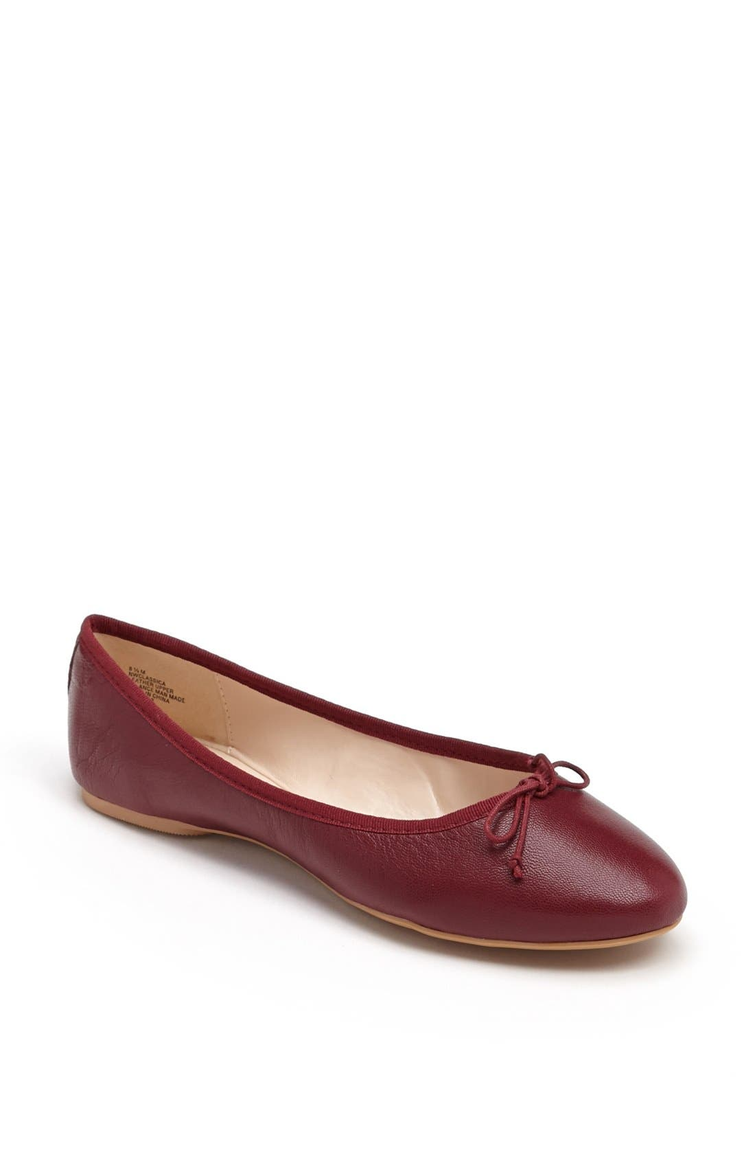 Main Image - Nine West 'Classica' Ballet Flat (Online Only)