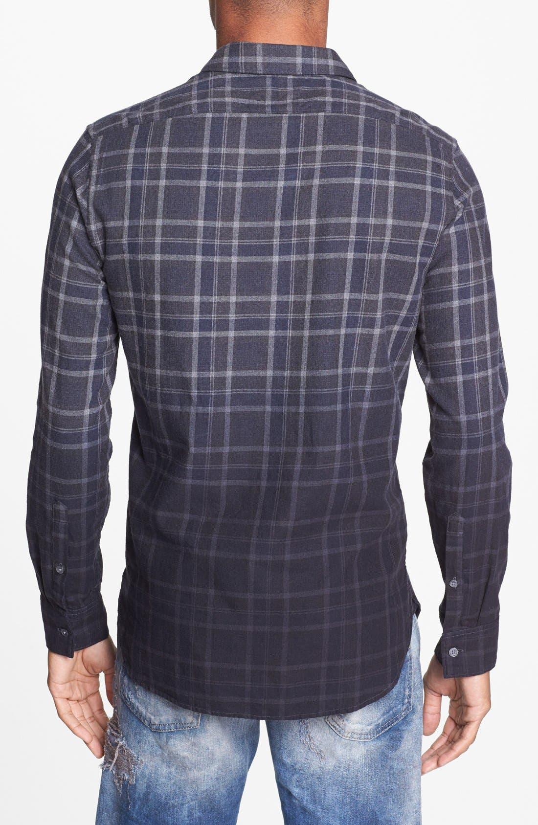 Alternate Image 2  - Edun Dip Dyed Plaid Shirt