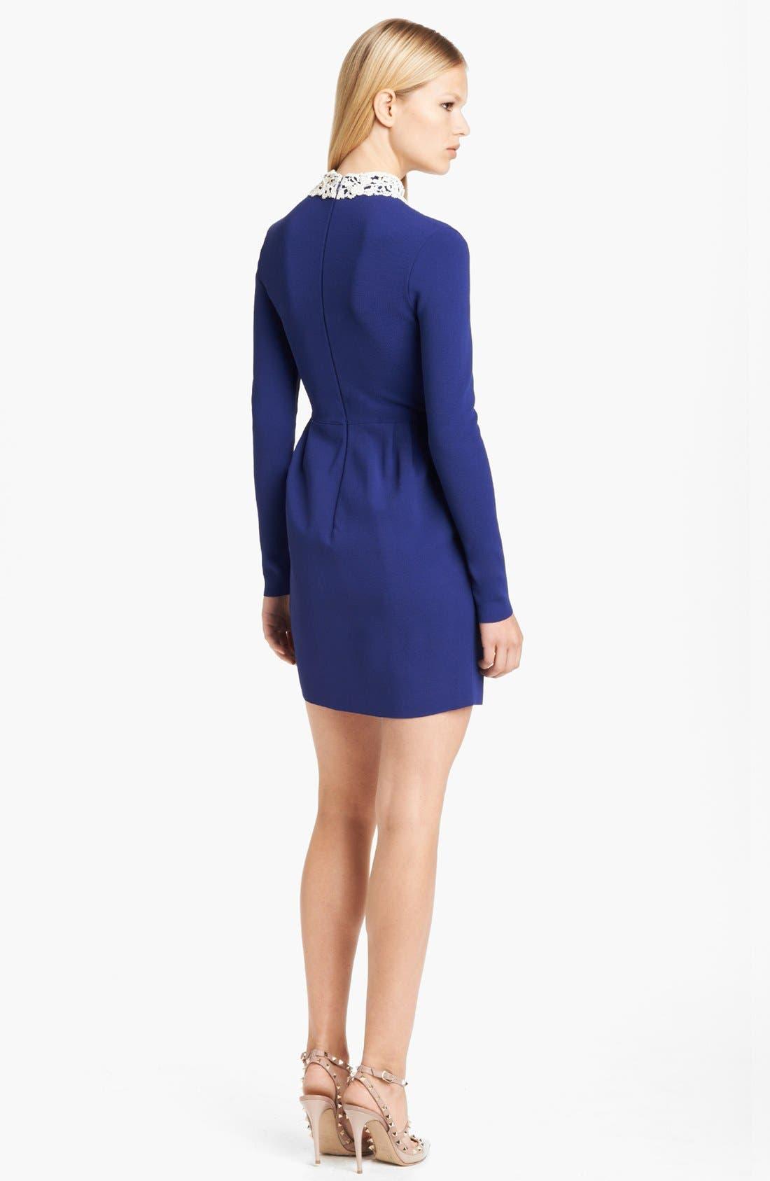 Alternate Image 2  - Valentino Embroidered Collar Dress