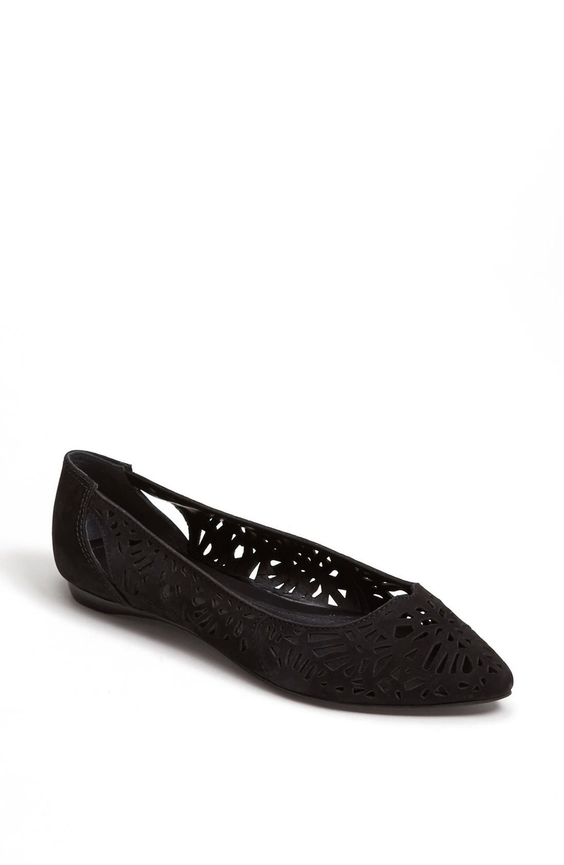 'Cicely' Perforated Flat,                             Main thumbnail 1, color,                             Black