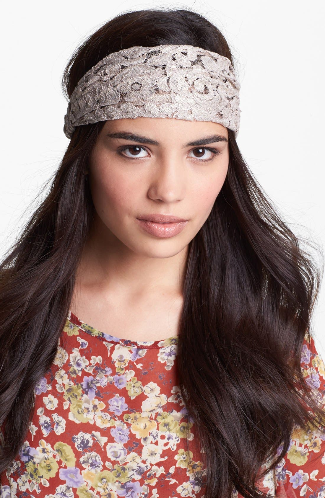 Alternate Image 1 Selected - Cara 'Romantic Lace' Head Wrap