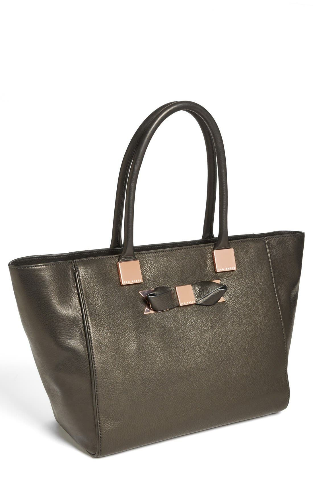 Alternate Image 1 Selected - Ted Baker London Metal Bow Shopper