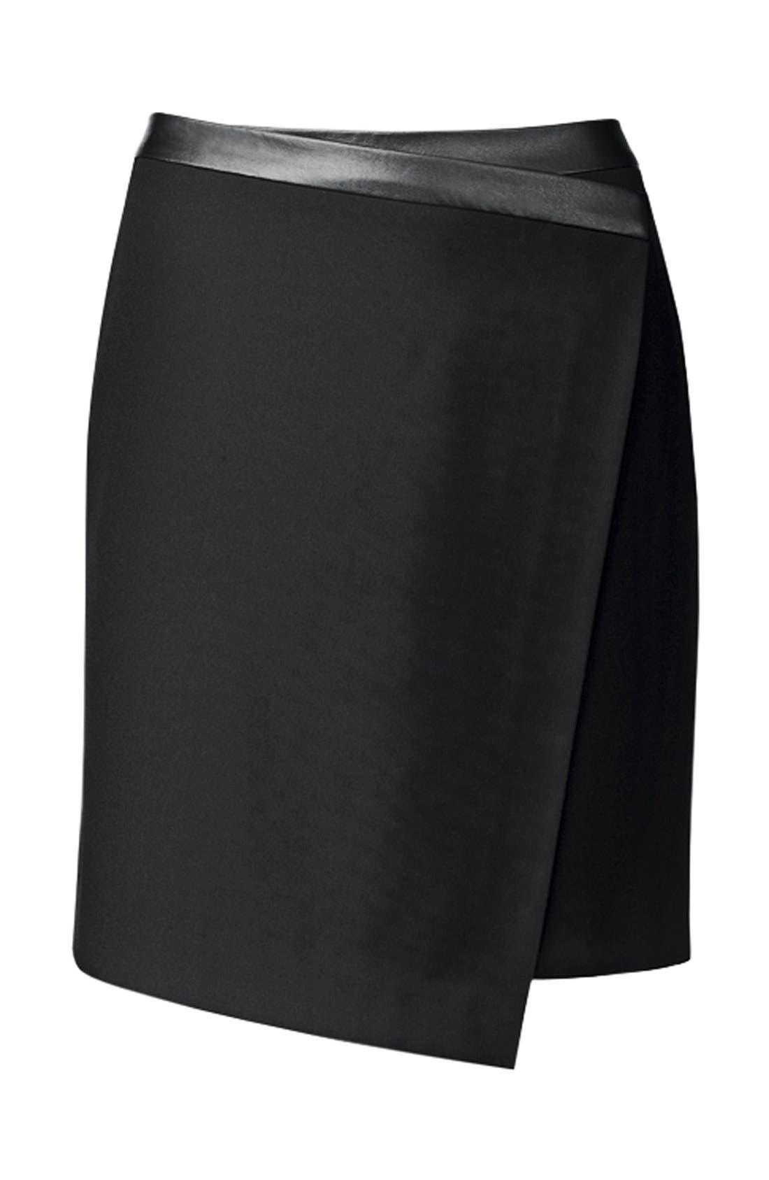 Alternate Image 7  - Trouvé Asymmetrical Faux Wrap Skirt