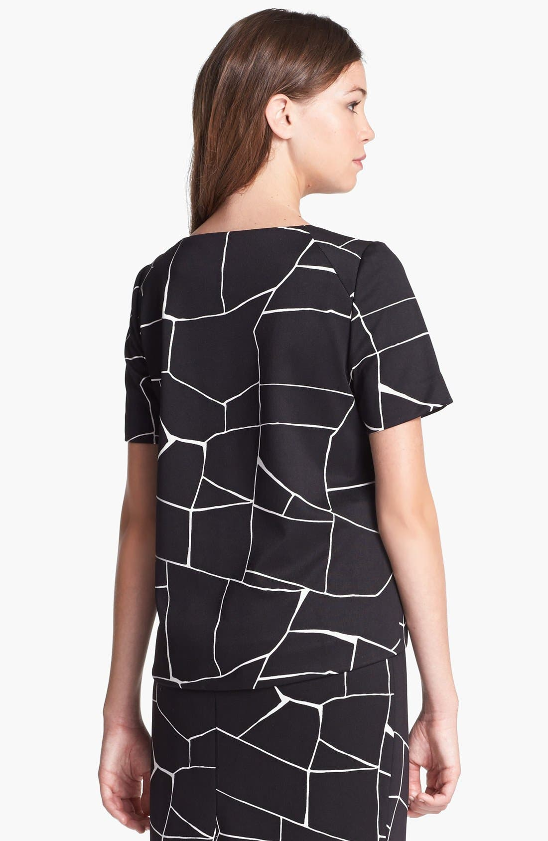 Alternate Image 3  - Vince Camuto Short Sleeve Print Blouse