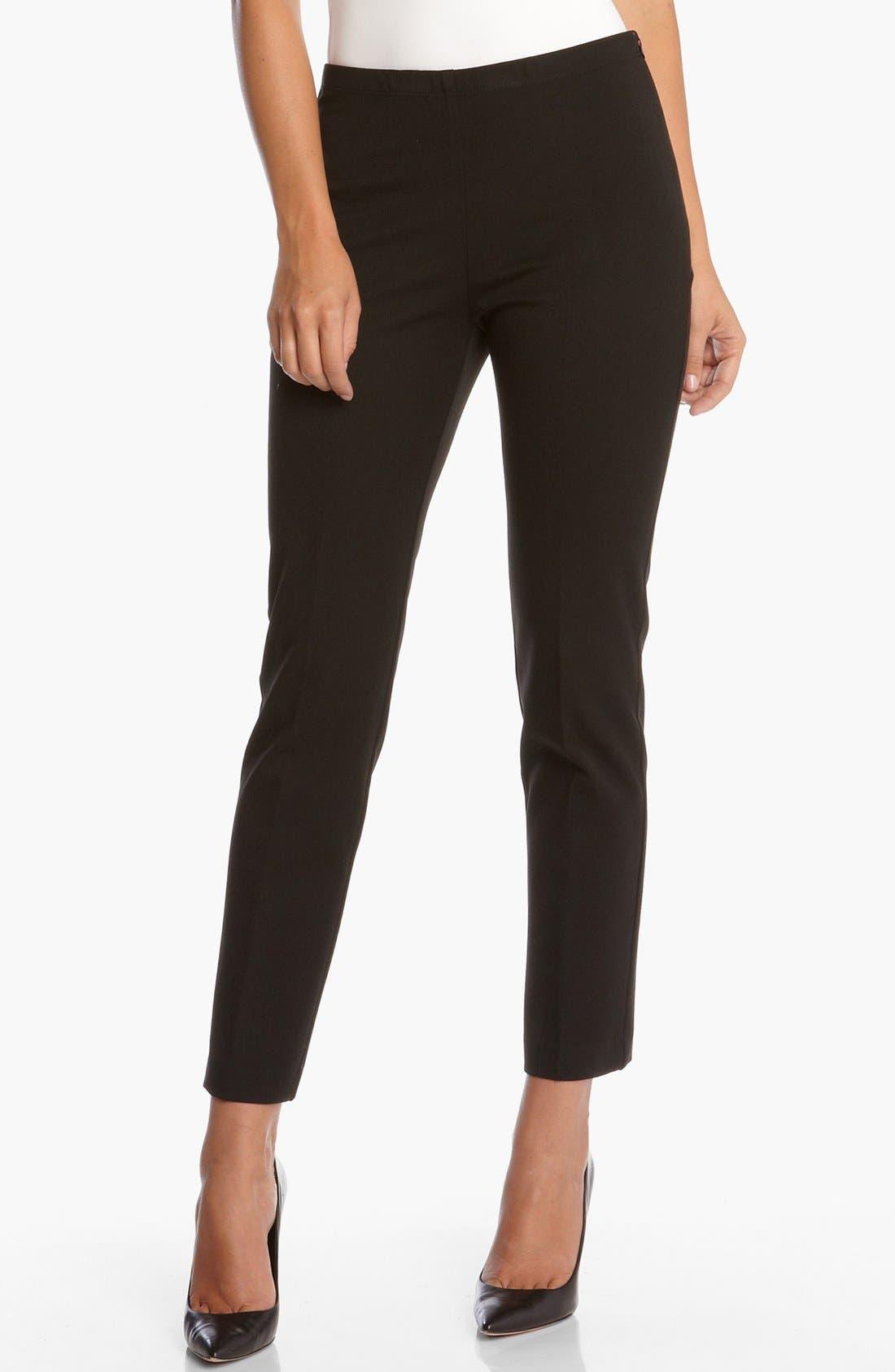 'Jackie' Ankle Pants,                         Main,                         color, Black