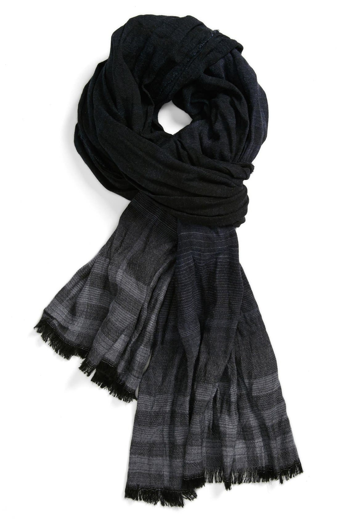 Main Image - John Varvatos Collection Overdyed Plaid Scarf