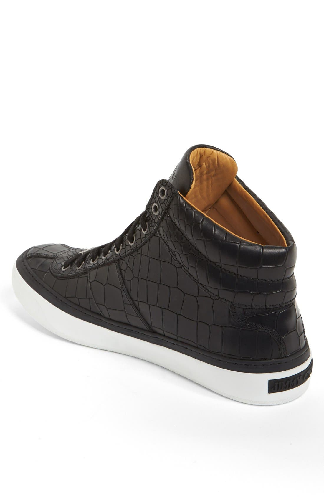 Belgravia High Top Sneaker,                             Alternate thumbnail 2, color,                             Black