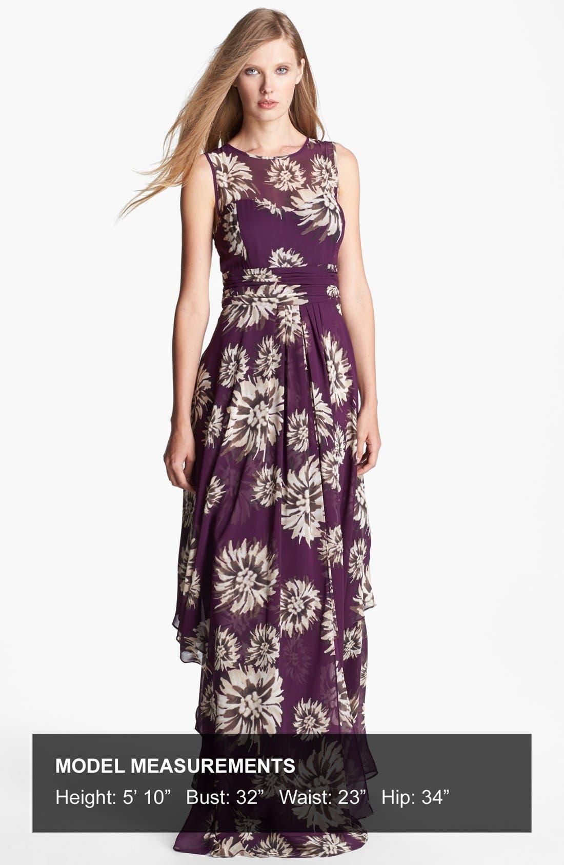 Alternate Image 4  - Eliza J Floral Print Chiffon Gown