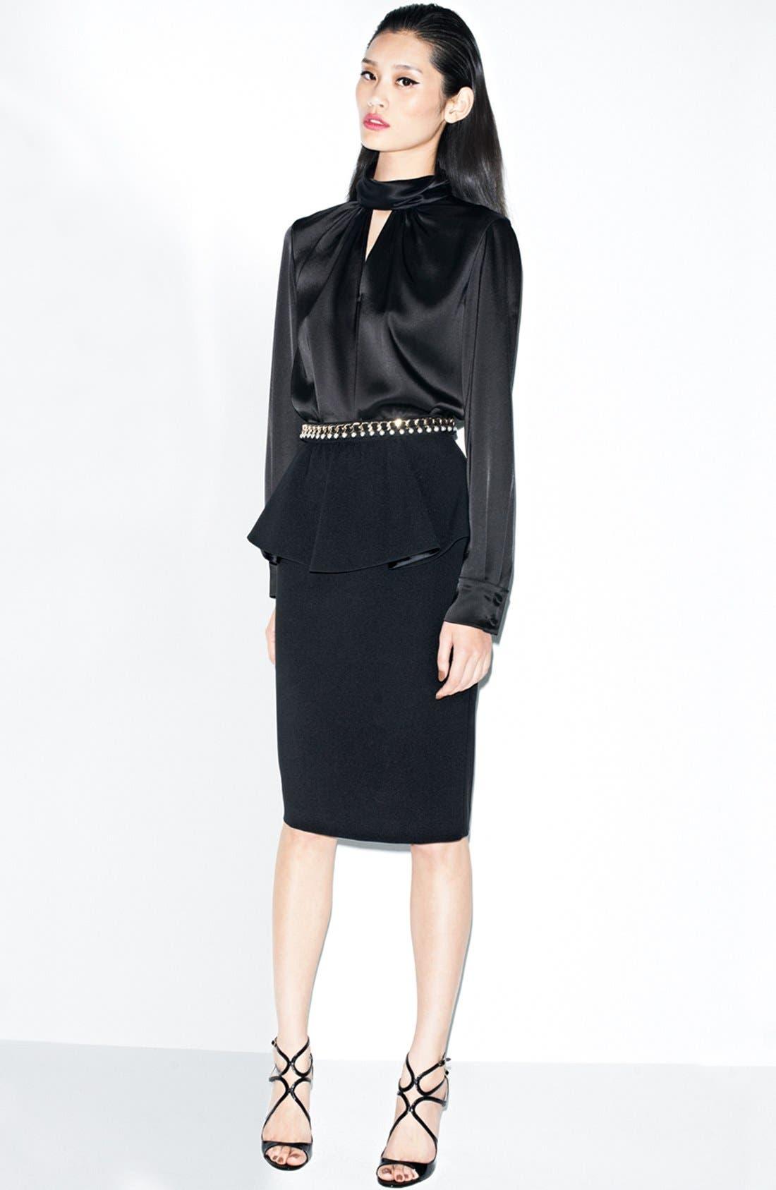 Alternate Image 1 Selected - St. John Collection Blouse, Belt & Skirt
