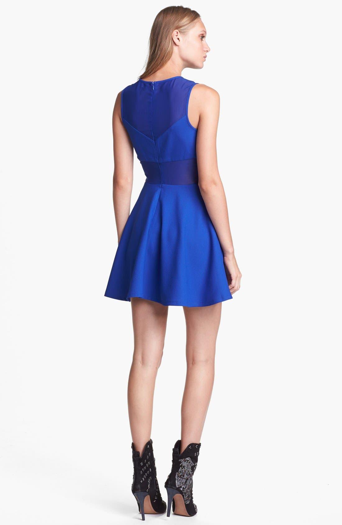 Alternate Image 2  - ASTR Sheer Panel Fit & Flare Dress