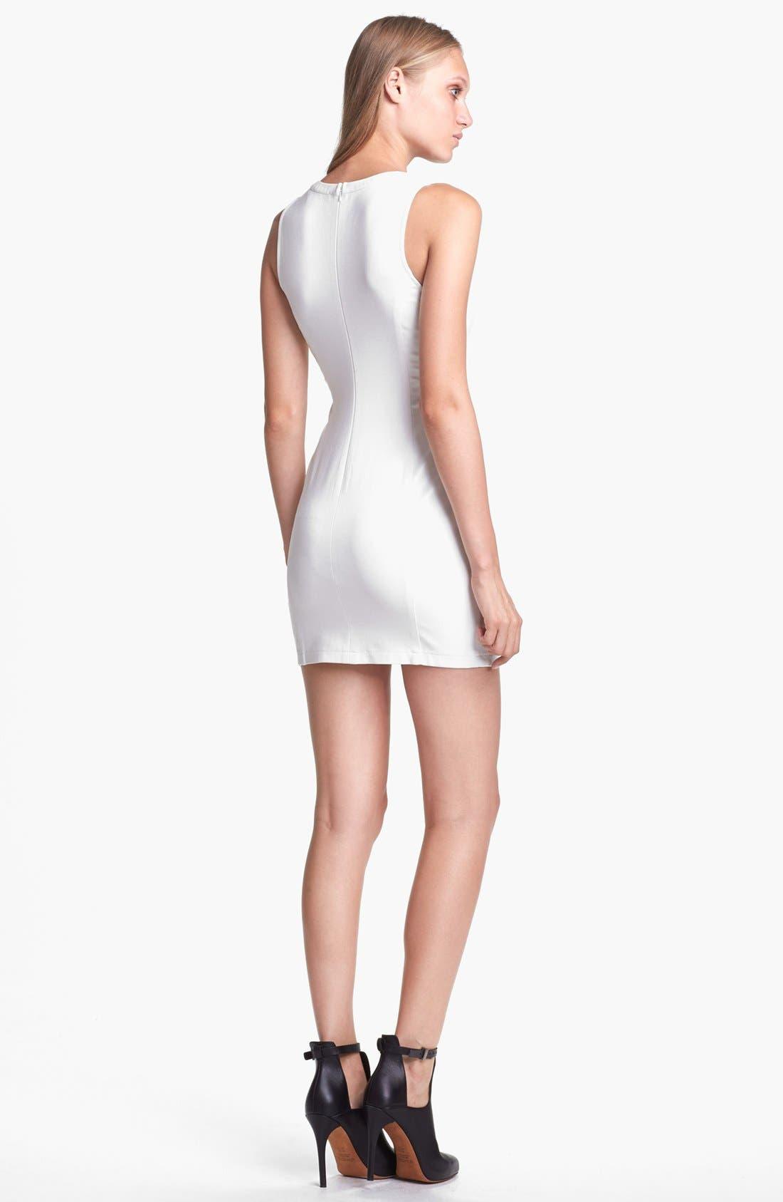 Alternate Image 2  - ASTR Cutout Faux Leather Dress