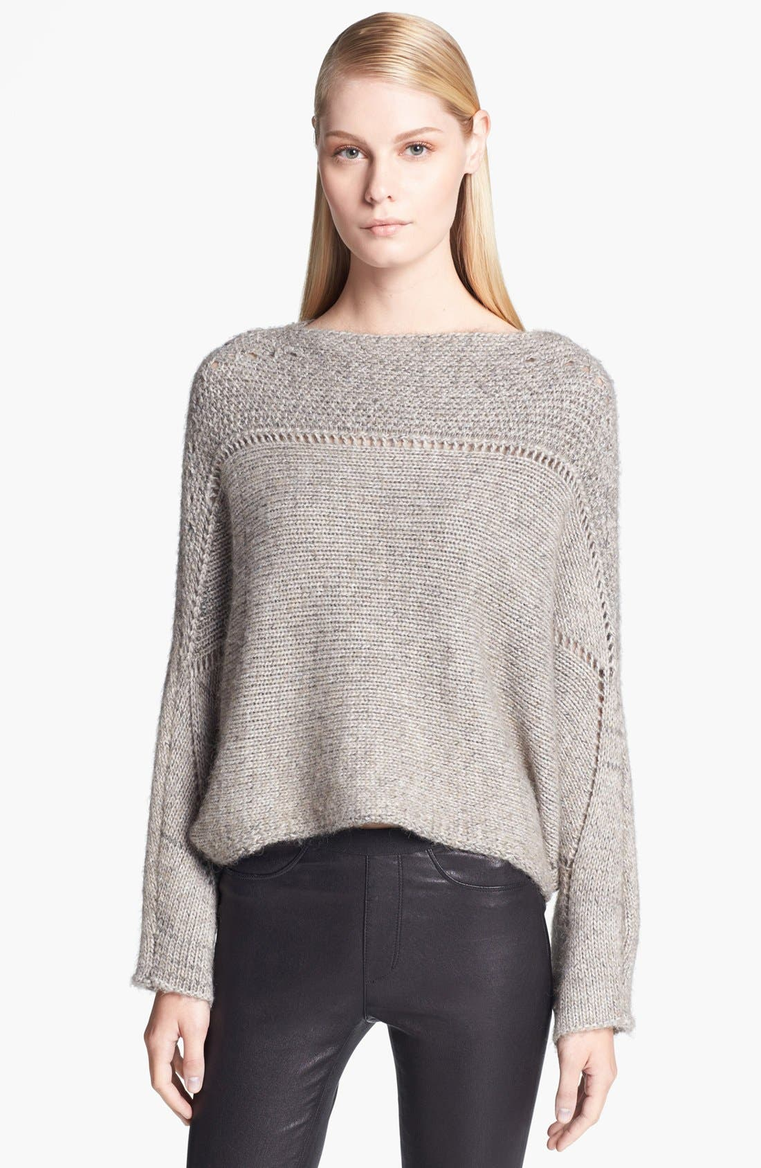 Alternate Image 1 Selected - Helmut Lang Novelty Knit Poncho Sweater