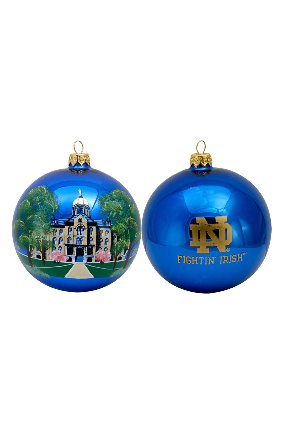 Alternate Image 1 Selected - Joy to the World Collectibles 'Collegiate Globe - Notre Dame' Ornament