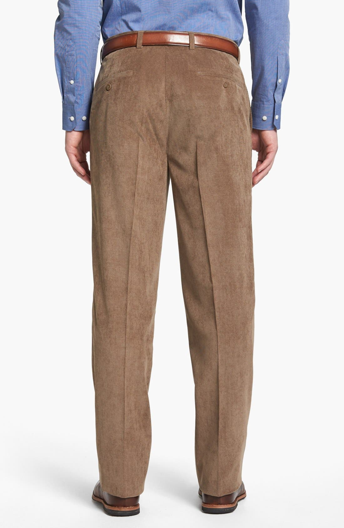 Alternate Image 2  - Linea Naturale 'Micro-Aire' Flat Front Corduroy Trousers