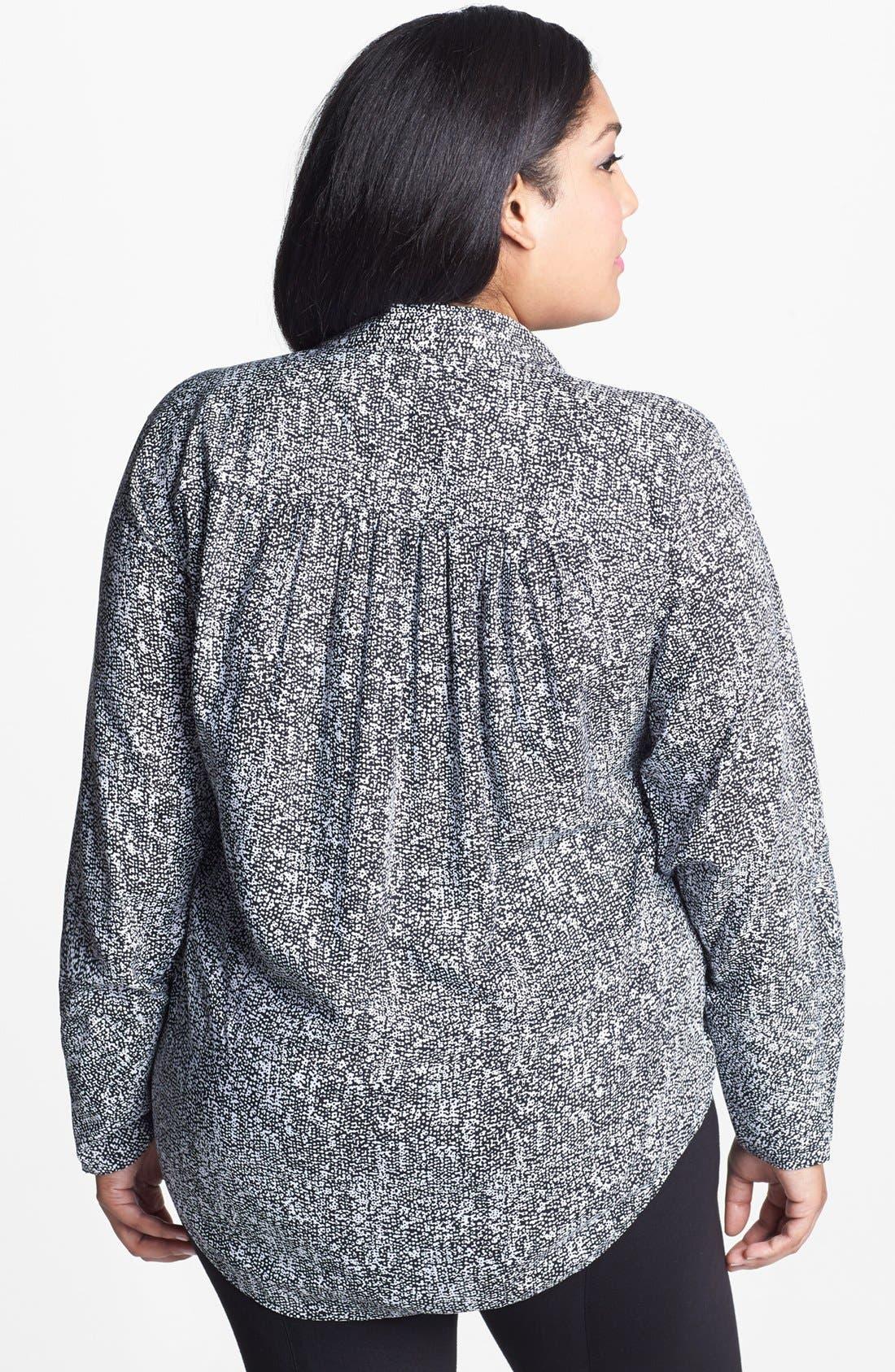 Alternate Image 2  - Foxcroft 'Raining Dots' Shaped Tunic (Plus Size)