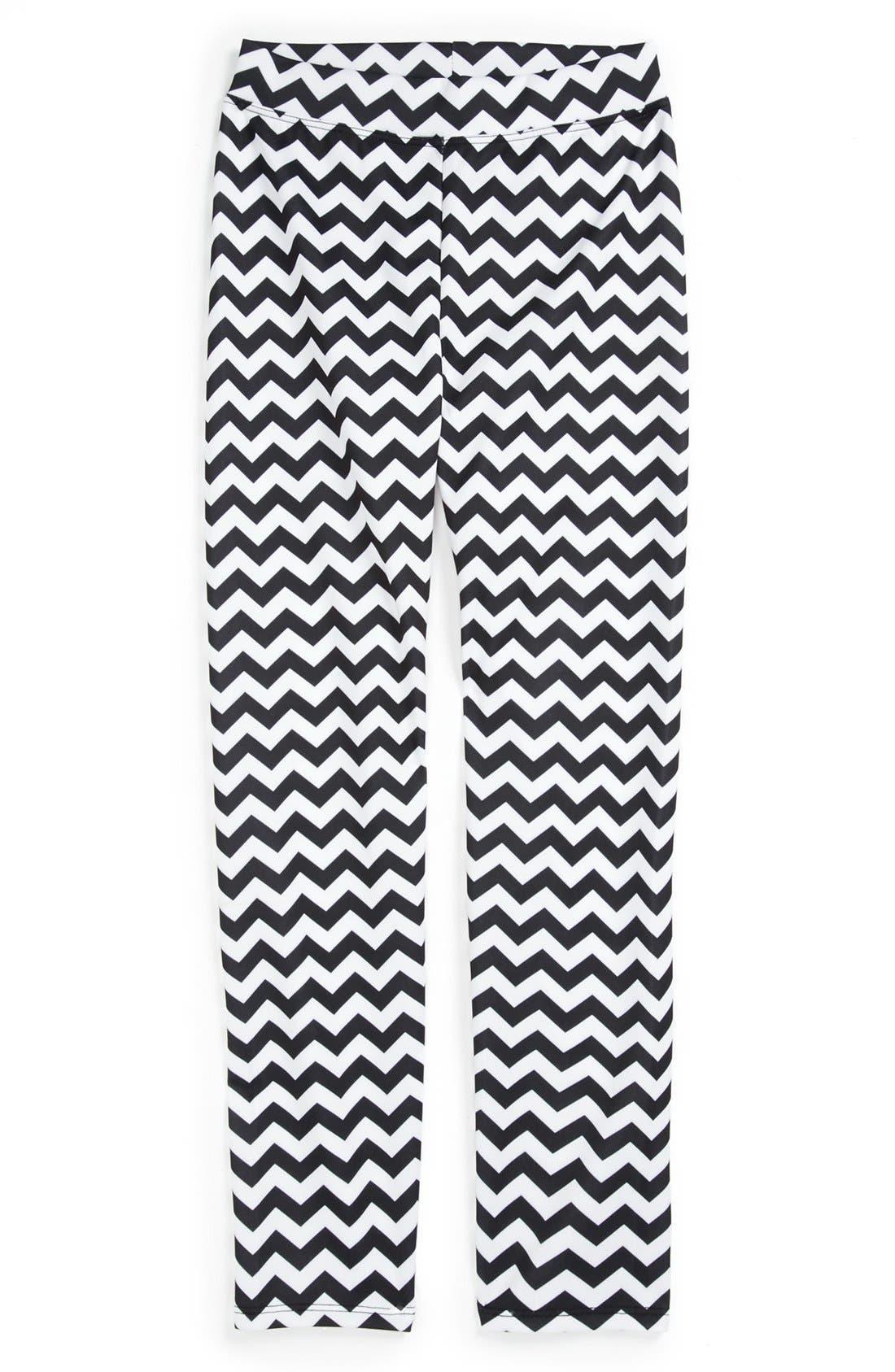 Alternate Image 1 Selected - Dirtee Hollywood Print Leggings (Big Girls)