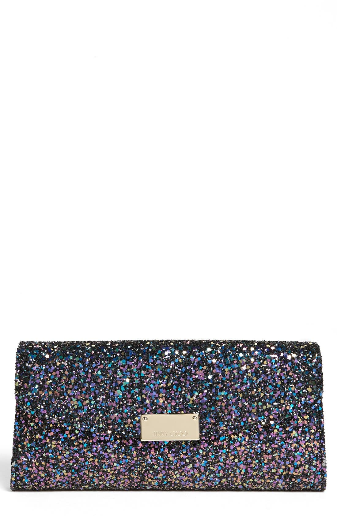 Alternate Image 1 Selected - Jimmy Choo 'Riane' Glitter Clutch