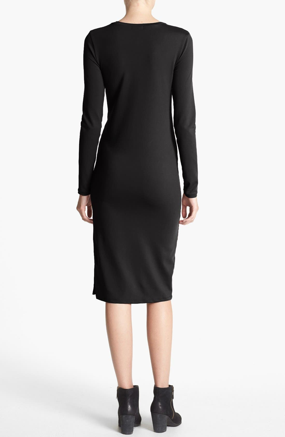 Alternate Image 4  - Leith Long Sleeve Knit Midi Dress