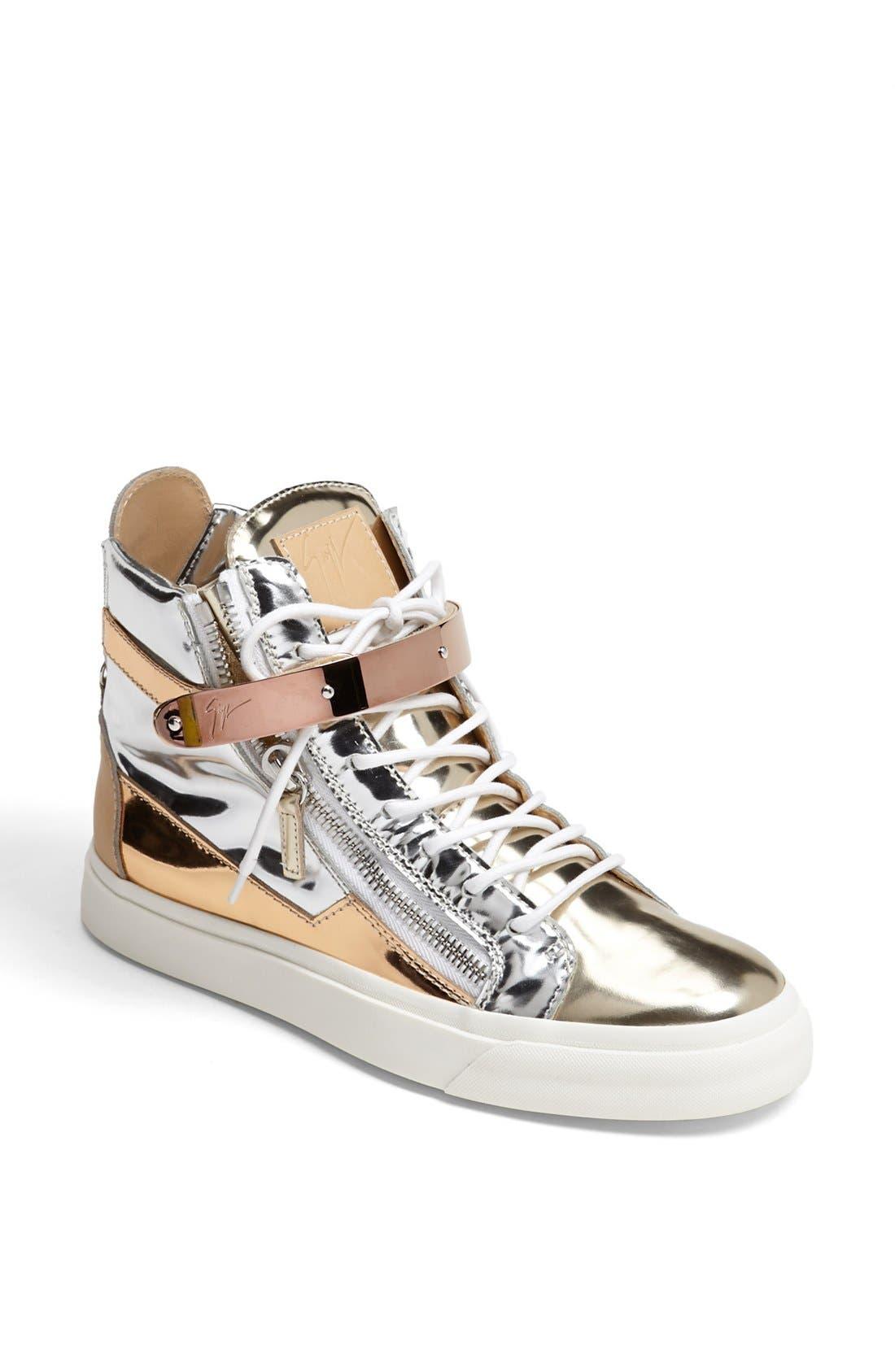 Alternate Image 1 Selected - Giuseppe Zanotti 'London' High Top Wedge Sneaker