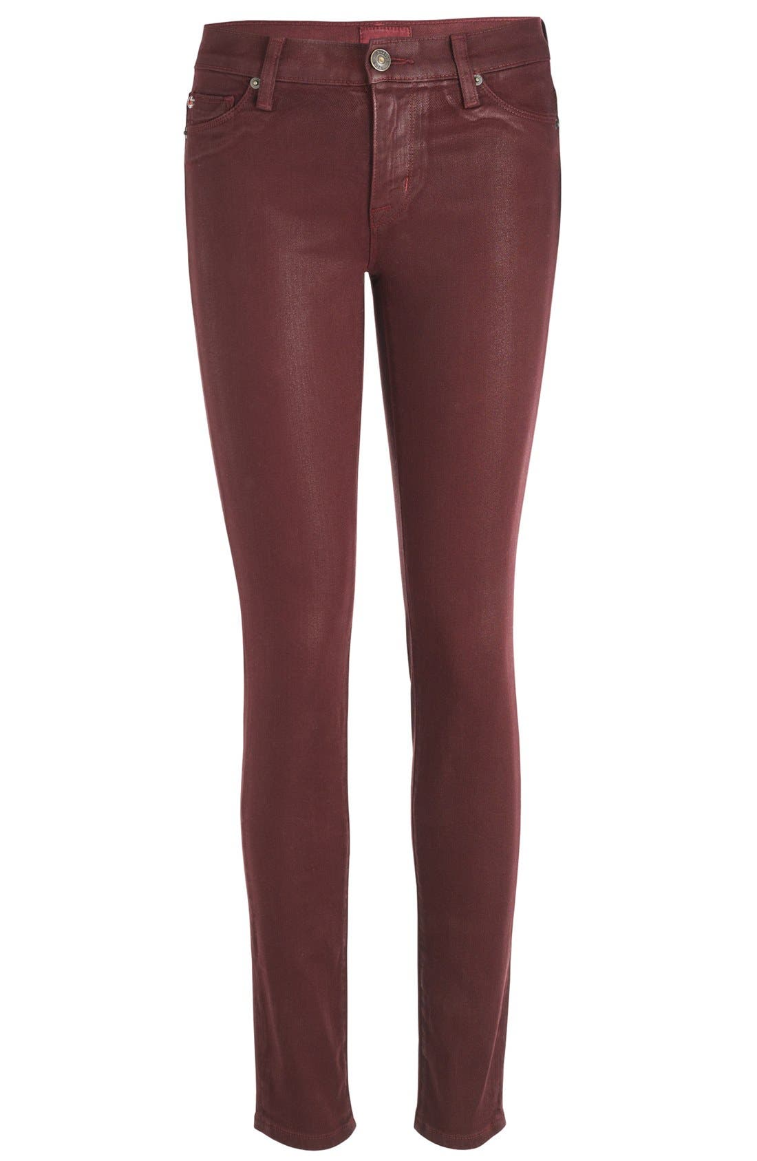Alternate Image 6  - Hudson Jeans 'Krista' Super Skinny Jeans (Crimson Wax)