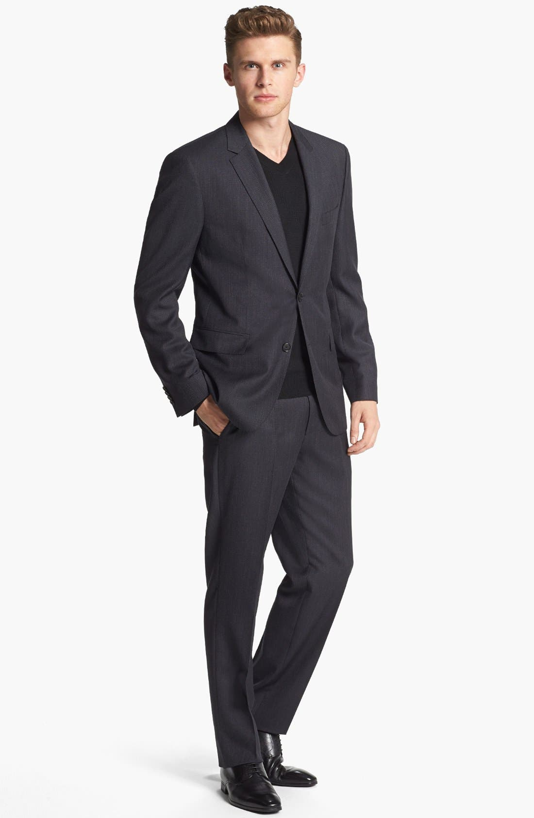 Main Image - BOSS HUGO BOSS 'Keys/Shaft' Trim Fit Wool Suit