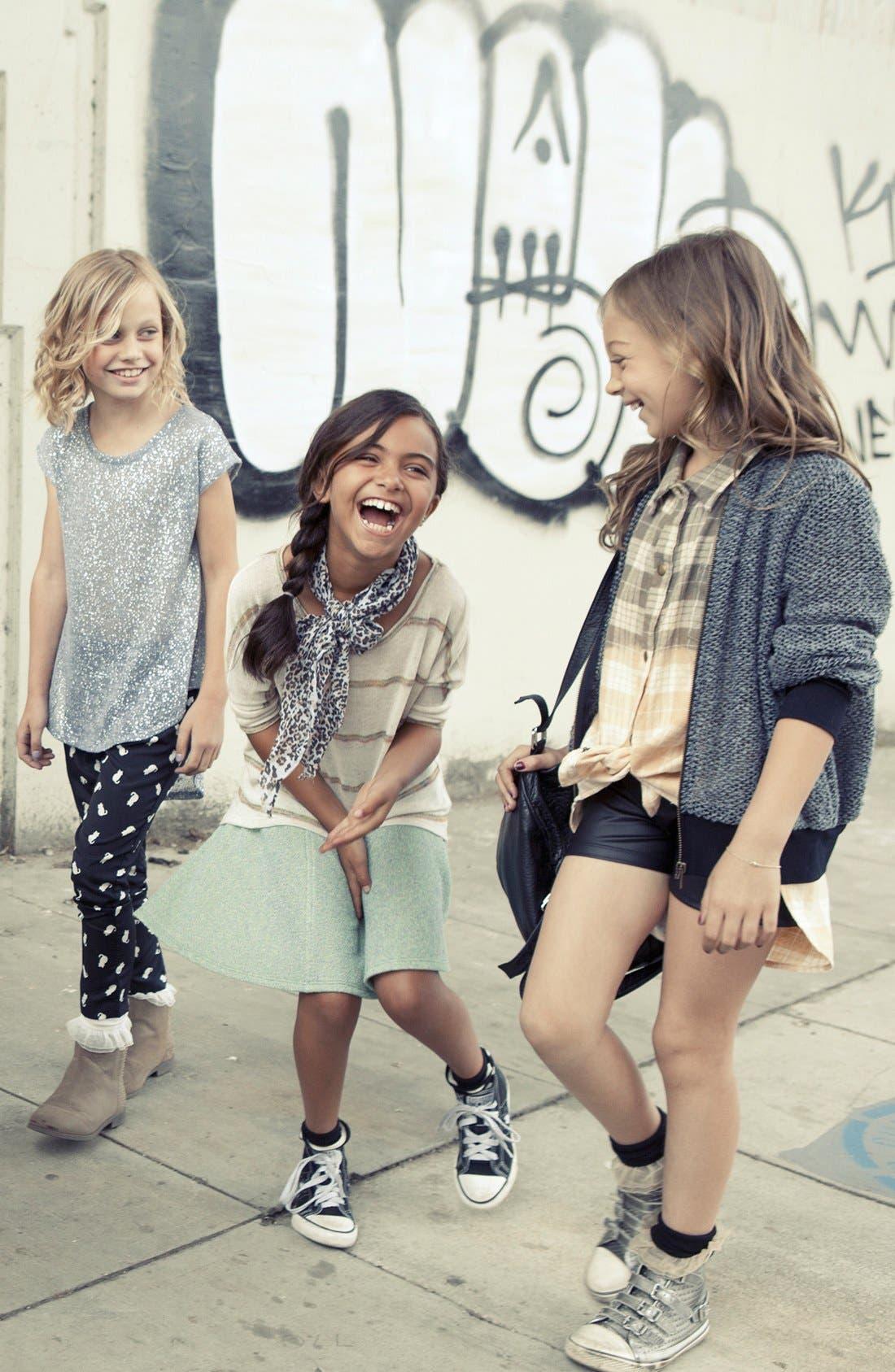 Alternate Image 2  - Mia Chica 'Cat' Soft Pants (Little Girls & Big Girls)