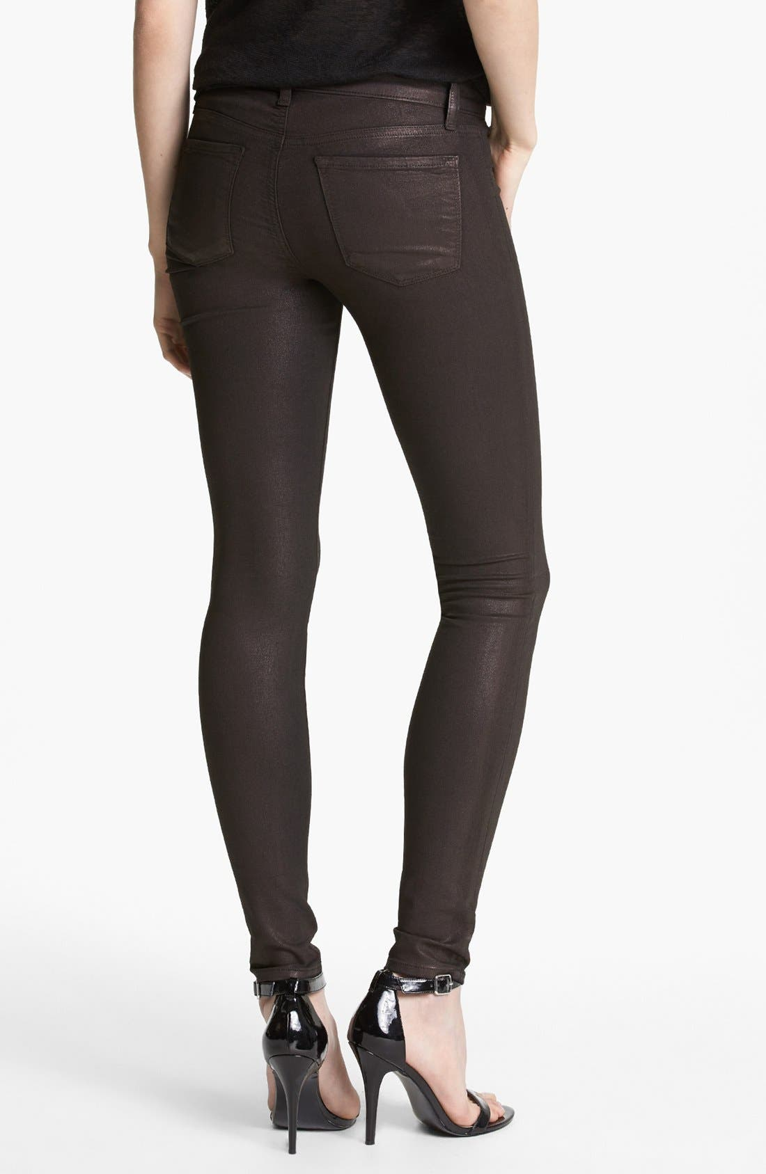Alternate Image 2  - J Brand '815' Coated Skinny Pants
