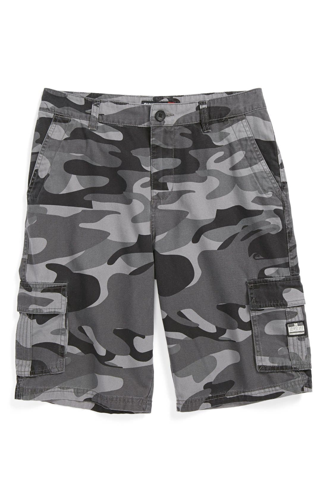 Main Image - Quiksilver 'Sue Fley' Camo Shorts (Big Boys)