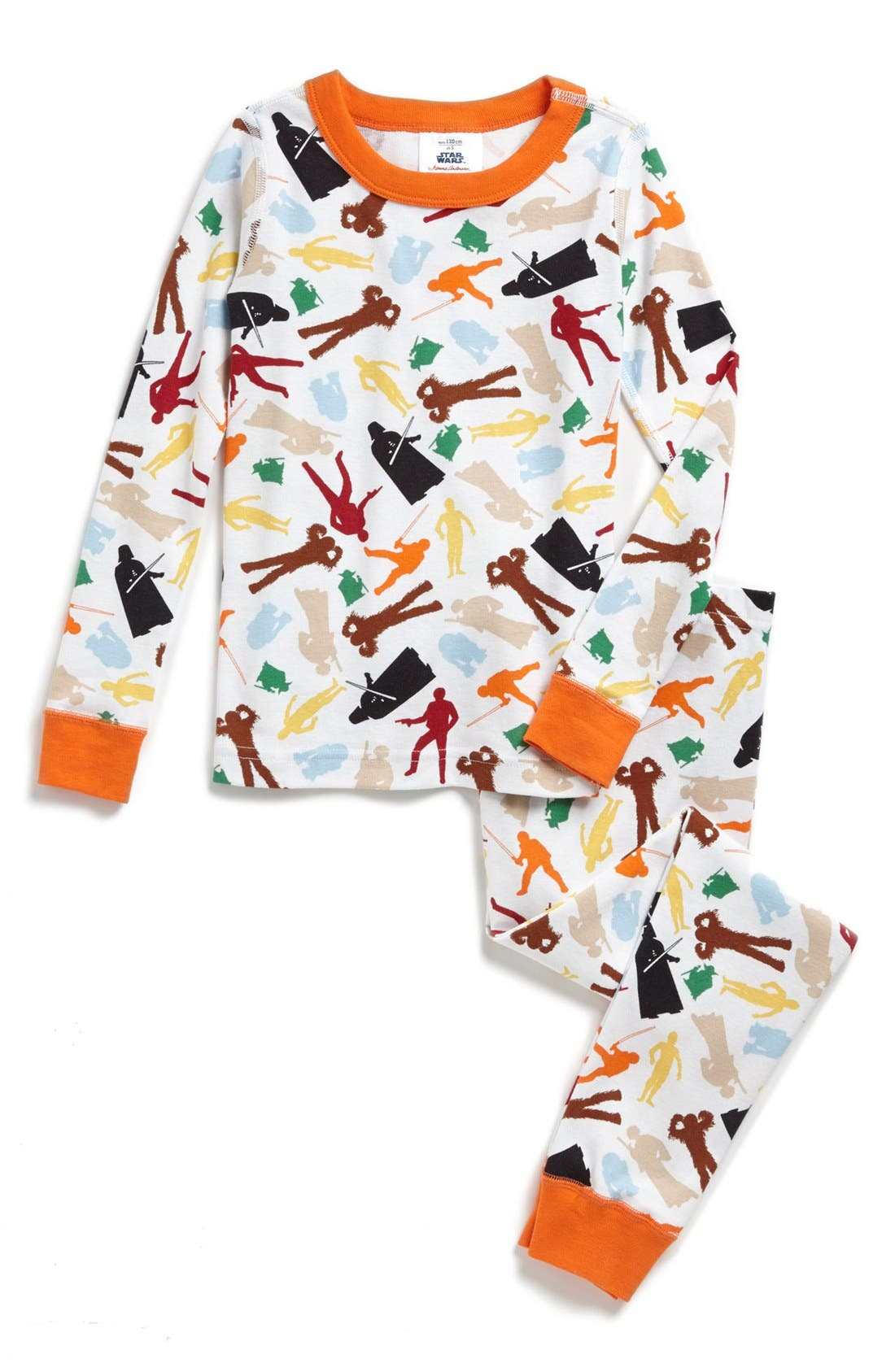 Main Image - Hanna Andersson 'Star Wars™ Characters' Two-Piece Organic Cotton Fitted Pajamas (Little Boys & Big Boys)